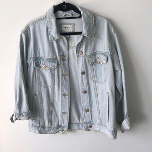 Forever 21 light oversized jean jacket